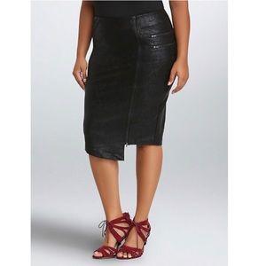 Torrid Asymmetrical Zip Midi Skirt Vegan Leather 3
